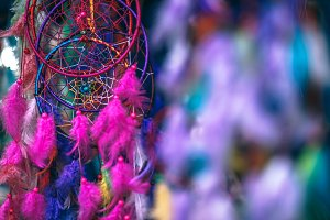Vibrant Dreamcatchers Hanging