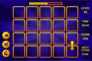 Interface Match3 Games and buttons, game assets