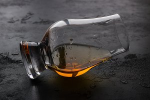 whiskey glass closeup