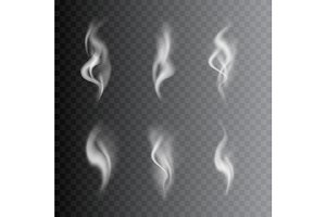 3d Images Smoke Set. Vector