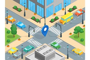 Urban Traffic Template Isometric