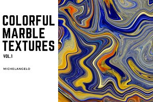 11 Colorful Marble Textures vol.1