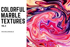 11 Colorful Marble Textures vol.2