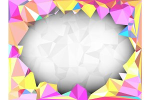 Vivid color polygonal background