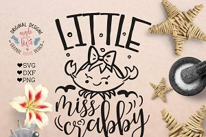 Little Miss Crabby Cutting File
