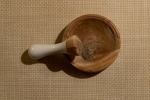Pepper in mortar