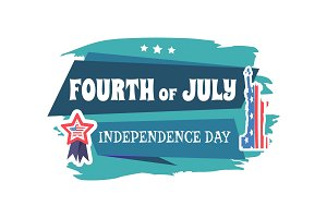 Fourth of July Independence Vector Illustration