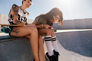 Friends laughing and enjoying