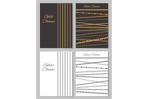 Gold and Silver Chains Promotional Posters Set
