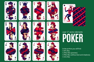 Poker Cards Set