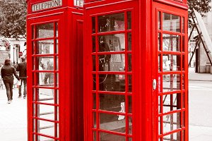 Vintage red telephone box