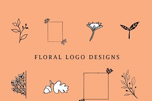 Hand Drawn Floral Logo Pack- Vol 1