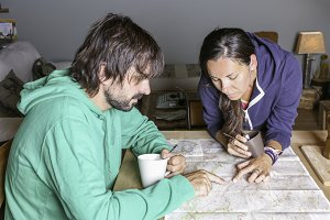 mountaineers with a map