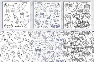 Weather doodle big set