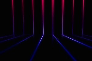 Pink and purple retro arcade neon lines illustration background