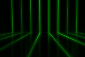 Green retro arcade neon lines illustration background