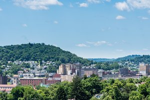 Downtown skyline of Clarksburg in West Virginia