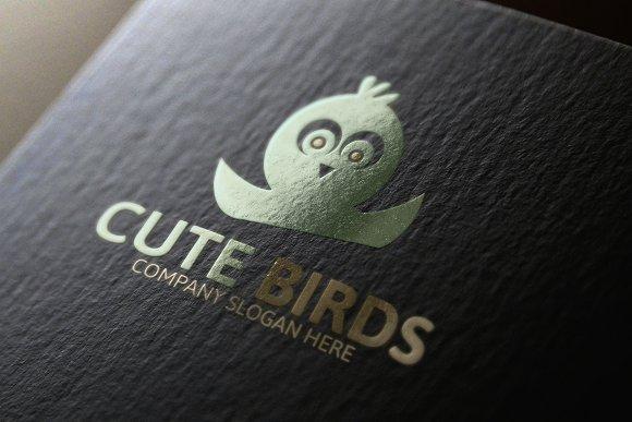 Cute Bird Logo Template