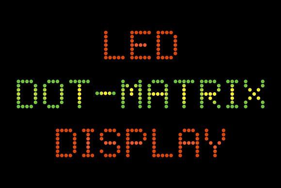 LED Dot-Matrix Display Font