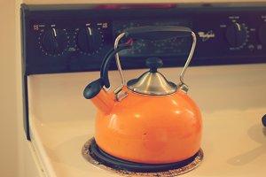 Vintage Orange Kettle