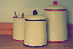 Containers in a Vintage Kitchen
