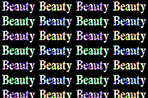 Beauty Text Over Dark Grungy Background