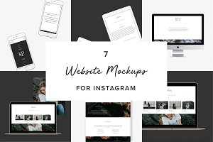 7 Website Mockups (Mobile & Desktop)