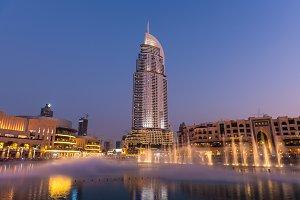 Dubai fountains show at the Dubai