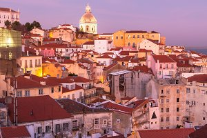 Old Lisbon at Sunset