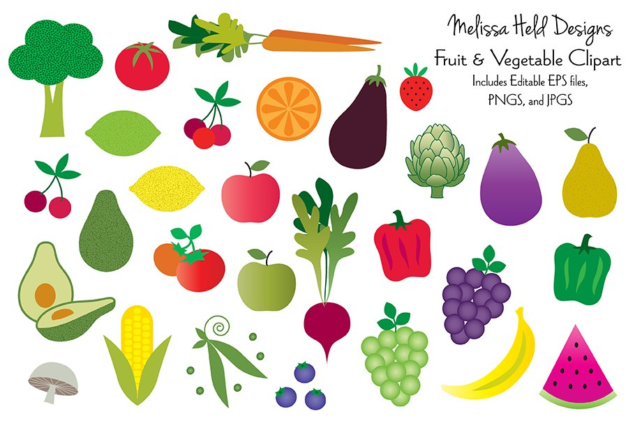 Fruits And Vegetables Pictures Clipart