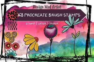 168 Procreate Stamp Brushes