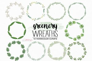 Greenery wreath. Rustic