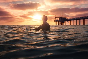 Sunset Surf San Diego California