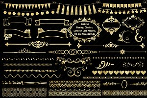 Gold Foil Accents Part One ClipArt