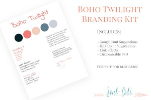 Boho Twilight Blog Branding Kit