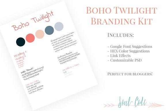 Boho Twilight Blog Branding Kit
