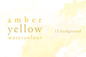Amber Yellow Water Colour