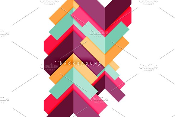Multicolored abstract geometric shapes, geometry background for web banner in Illustrations