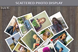 Scattered Photo Display Mock-Up