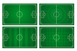 vector of football pitch