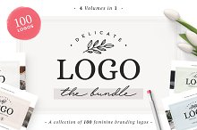100 Delicate Feminine Logos by  in Templates