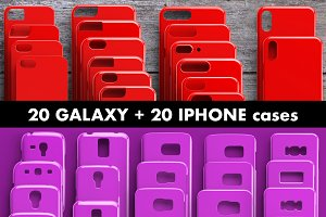20 Galaxy + 20 iPhone cases