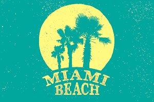 miami beach retro logo