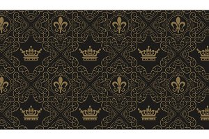 Seamless Wallpaper Damask - Royal