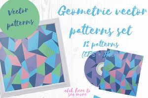 Geometric vector patterns set