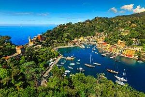 Famous Portofino tourist resort