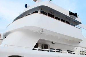 White tourist, luxury ship
