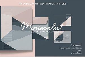 Minimalist elegant pattern set.