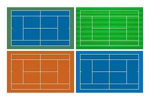Tennis Court Template