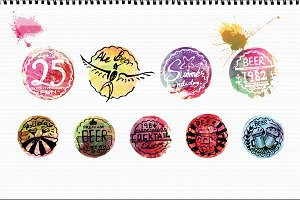 Beer Cap Badges Bundle Colorful